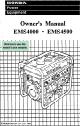 HONDA EMS4000 OWNER'S MANUAL Pdf Download.