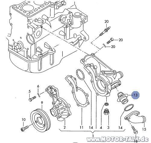Zwischenablage-1 : Thermostat wechseln von oben : Audi A4