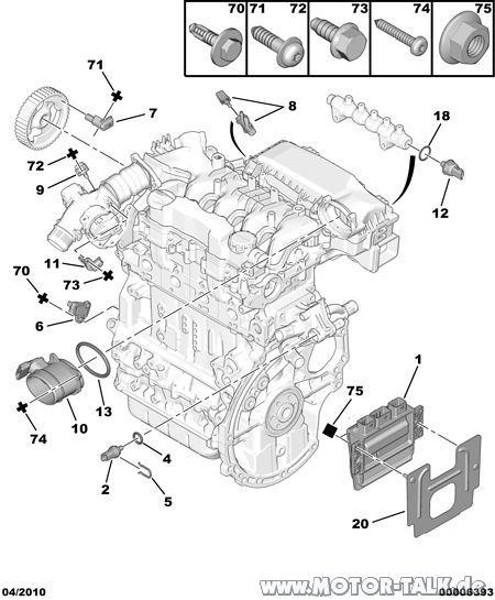 00006393 : Kurbelwellensensor am C4 1,6 HDI : Citroën C4