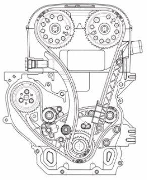 Z22se-steuerkette-51822 : Steuerkettenaufbau Zafira 2.2