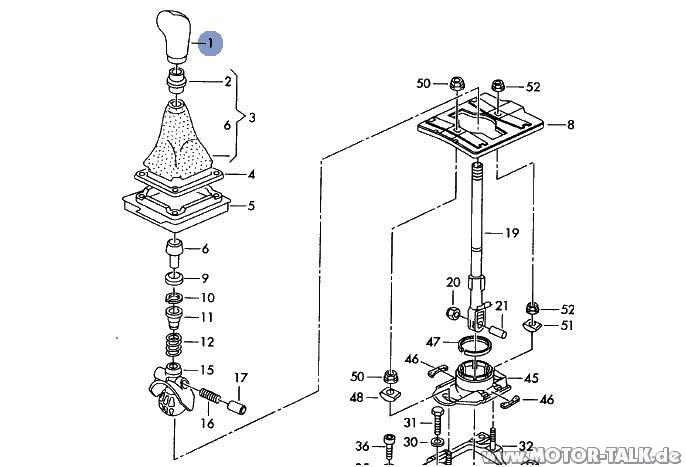 Schalthebel : Automatik-Schalthebel ausbauen : Audi A4 B5