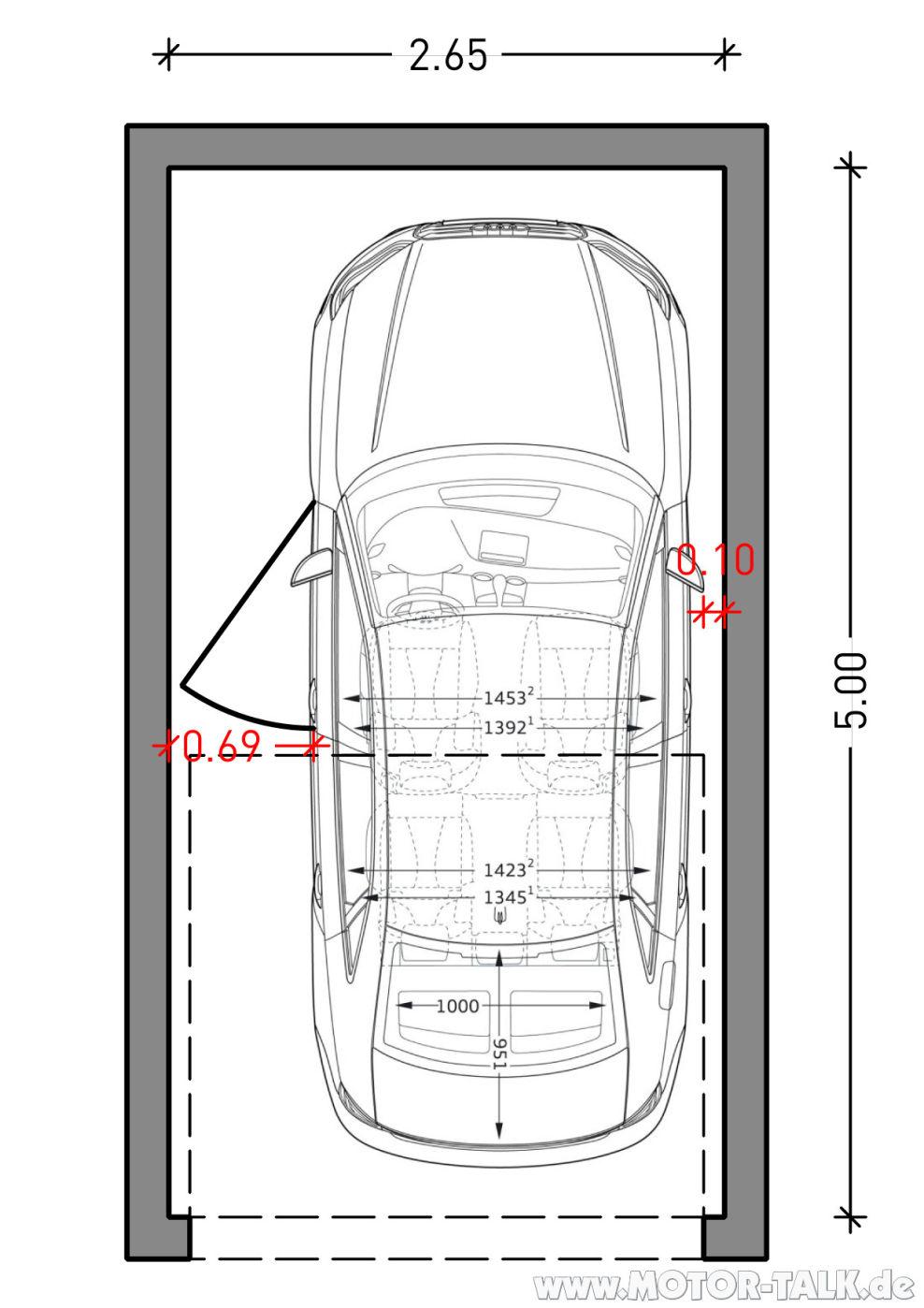 A3-limo-garage-265-cm : Garagenbreite für A3 (Limousine