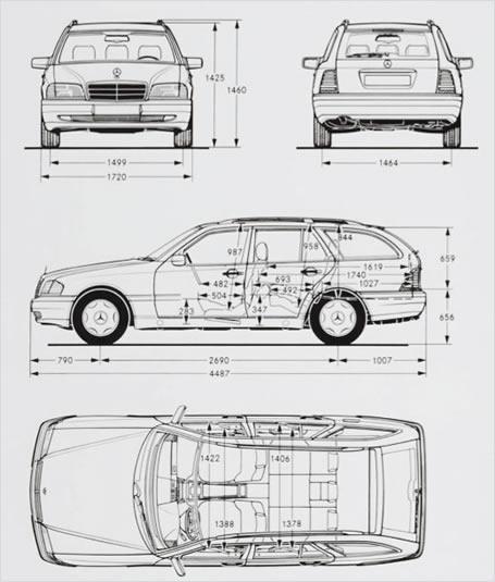 Mercedes benz c klasse kombi abmessungen