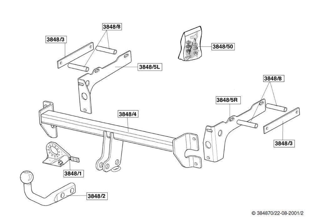 Kupplung : Anhängerkupplung Buchse : Mondeo Mk3 : #203395783