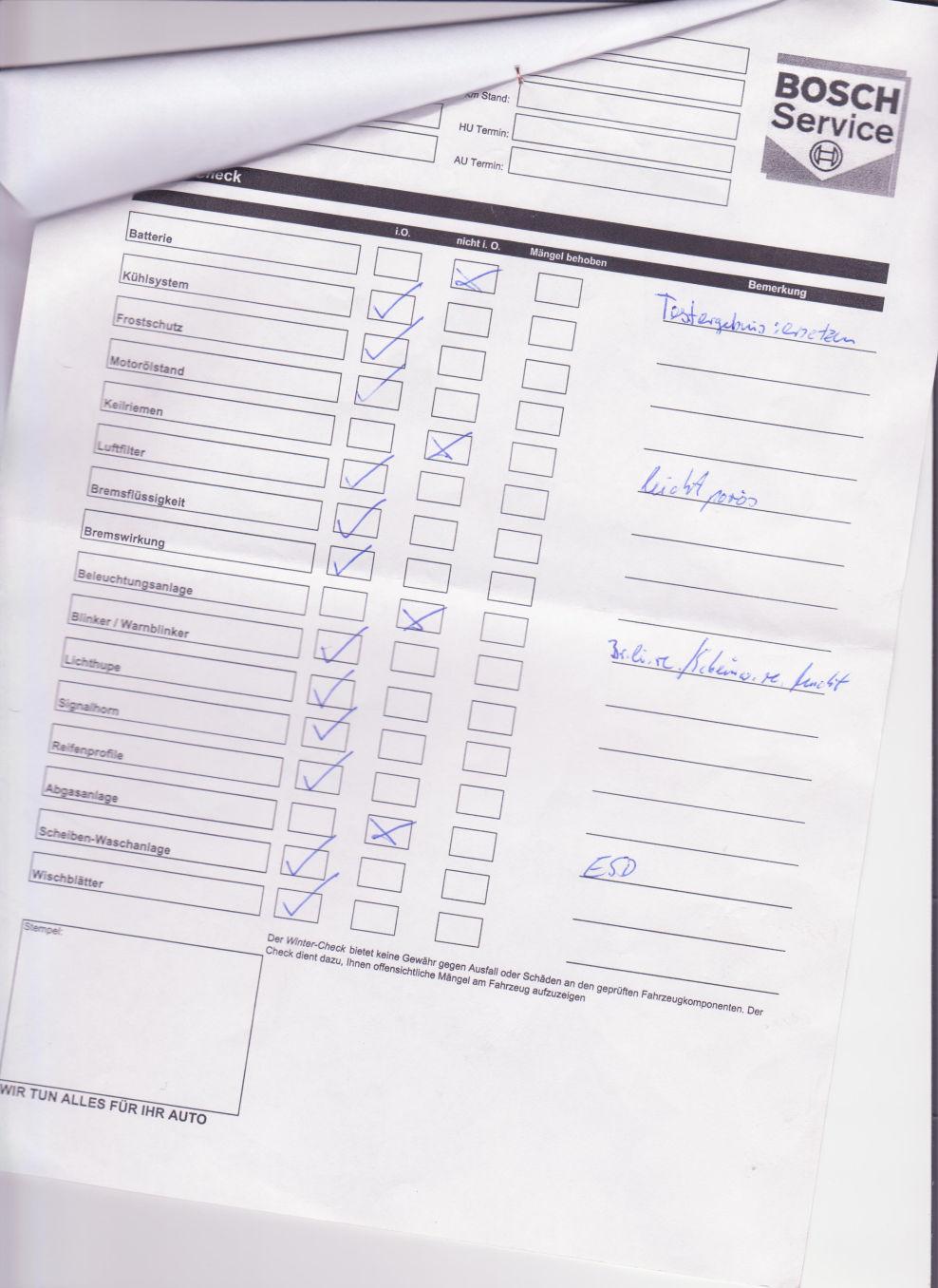 Bosch-003 : Allgemeine Fragen zum Corsa C 1.2 Comfort