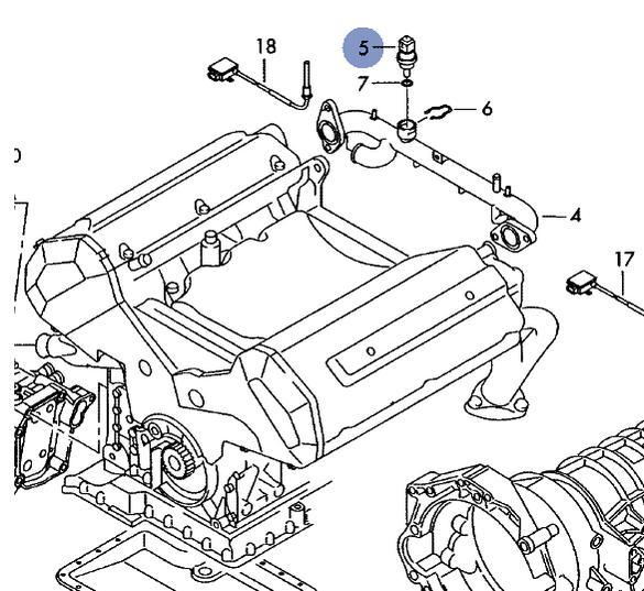 Doppeltemp-geber : Kühlmittelsensor G62 c5 s6 4,2 : Audi