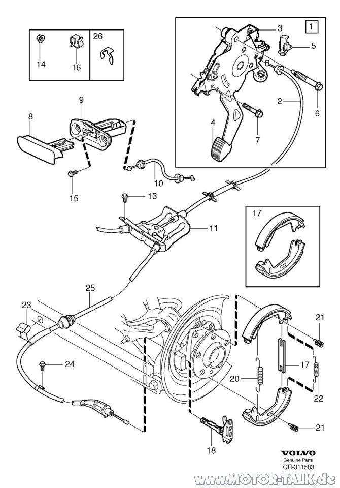 Feststellbremse-xc90 : Hintere Bremsscheiben beim XC90
