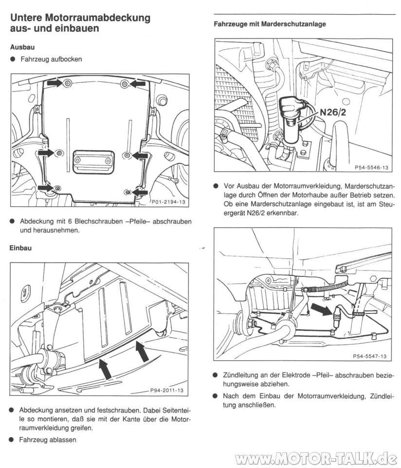 Motorraumabdeckung : Anlasser wechseln am w202 C180 EZ:11