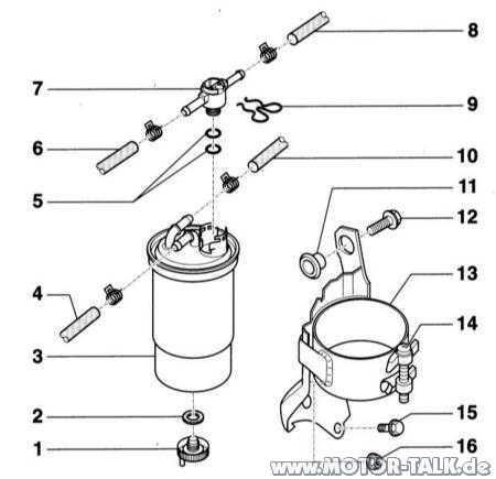 434 : Kraftstofffilter Audi a4 1,9 TDI : Audi A4 B6 & B7