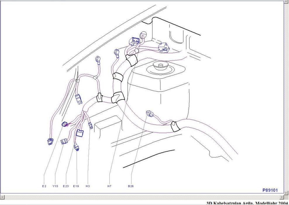 3d-kabelsatzplan-vorn-rechts : Stromlaufplan : Opel Agila