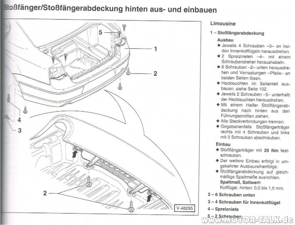 Stossfaenger-hinten : Hilfe bei hinterer Stoßfänger