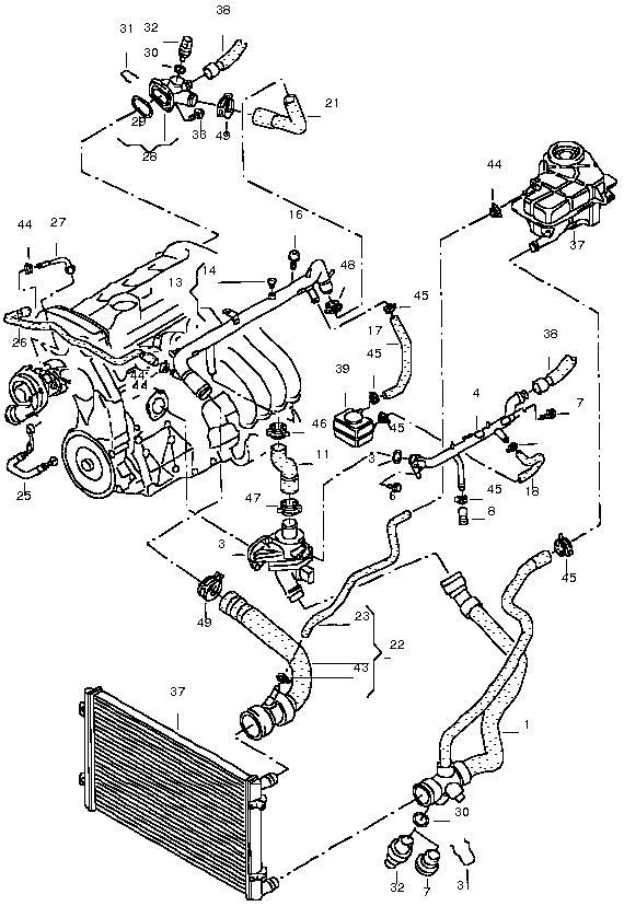 Coolant-bfb : 1.8 T 140 KW Motor wird sehr schnell warm