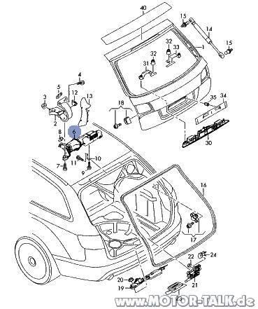 Heckklappe-explosion : Elektrische Heckklappe : Audi A6 4F