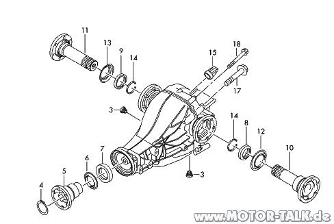 Hinterachsgetriebe : Explosionszeichnung hinterachse