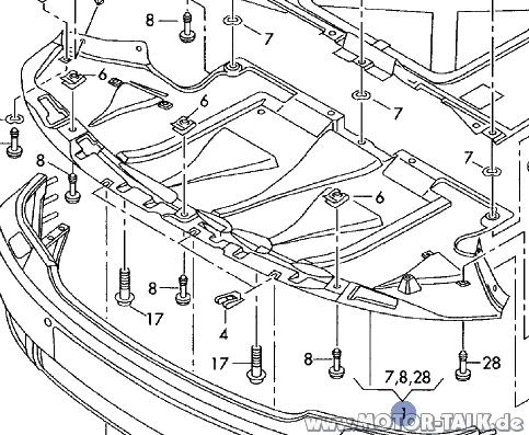 Unterbodenschutz-vorne : Teilenummer Frage : Audi A6 4F