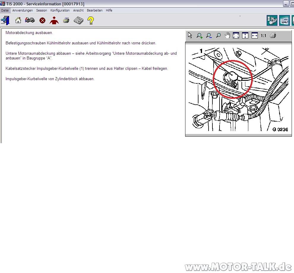 Kw-sensor : Wo ist der Kurbelwellensensor opel zafira a