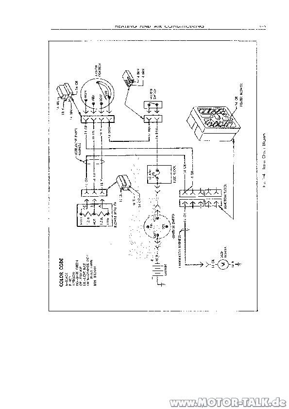 Heater Circuit Diagram : 1966 Cadillac Automatic-Gebläse