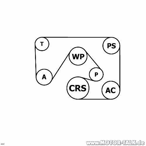 Riemenverlauf : Keilrippenriemen wechseln b.2.0i16V : Opel