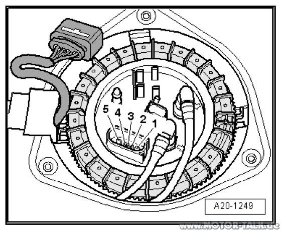 Tankanschluss : Tankanzeige defekt : Audi A6 4F : #205406373