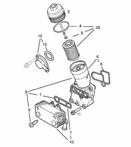 Oelkuehler : Ölkühler 2.2dti : Opel Vectra B : #205012805