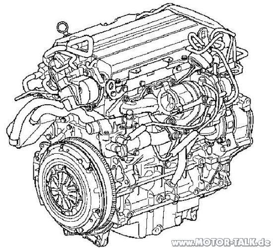 Engine-rear-drawings : Geräusch 2.0 t : Opel Vectra C