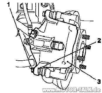 Belagwechsel1 : Agila A-1,3D: Bremsbeläge vorne wechseln