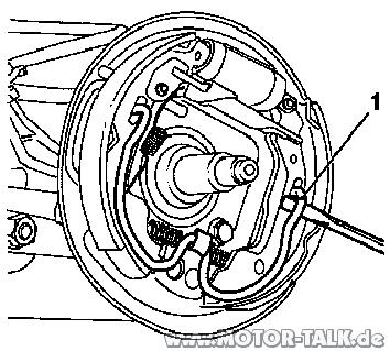 Trommelbremse : Trommelbremsbelag & Radlager hinten