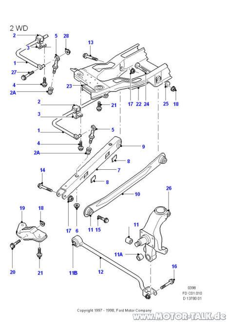 Poltergeräusche Hinterachse : Mondeo Mk1 & Mk2 & Cougar