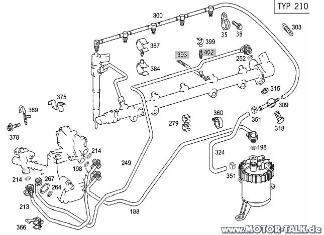Hochdruckpumpe-leitungen : W210 E270 springt nicht an