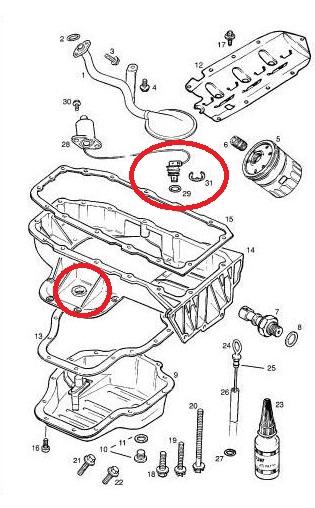 Oelsensor : ÖL druck schalter wechseln : Opel Vectra B