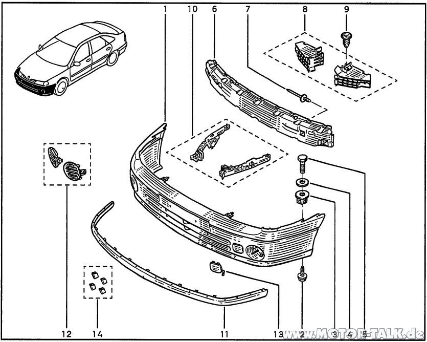 Stossfaenger-v-98 : Parkschaden / Stoßstange wieder
