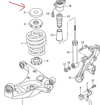 Federunterlage : S-Line Fahrwerk : Audi A4 B6 & B7
