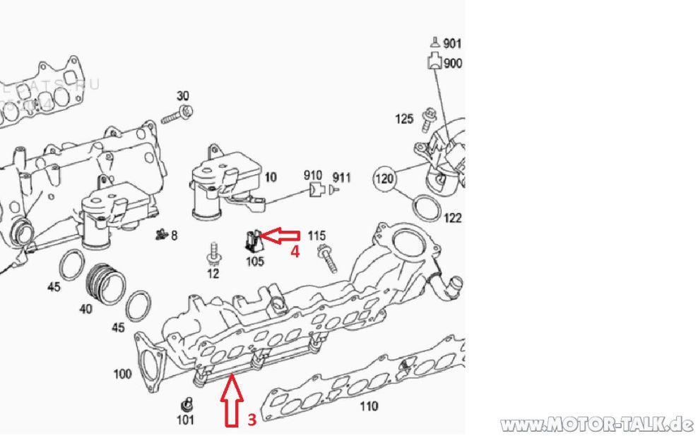 Epc : Mercedes 320 CDI V6 OM 642 EKAS Gestänge : Mercedes