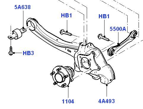 Buchse : Drucklager Achsschenkel hinten : Mondeo Mk4