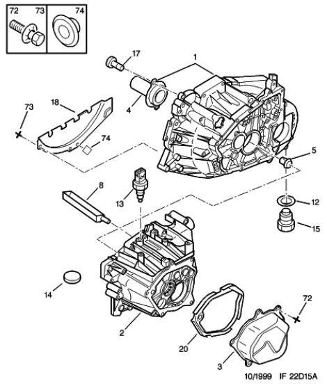 Getriebe Öl wechseln 406 V6 XFZ : Peugeot 4er, 5er, 6er