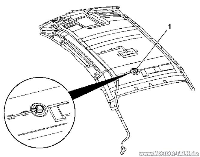 Lautsprecher-8700 : PDC Lautsprecher hinten im Dachhimmel