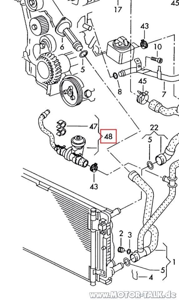 Image : Passat 3BG 1.9 TDI AVF Kühlsystem & Heizung : VW
