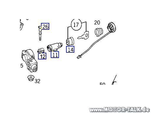 Zuendschloss-43141 : Wie Zündschloss ausbauen? schlüssel
