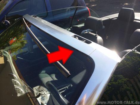 Audi A4 Cabrio Frontscheibe undicht  Audi A4 B6  B7