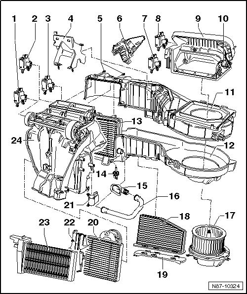 Golf-mk5-14735 : Climatronic Golf 5 Rattern vom Stellmotor