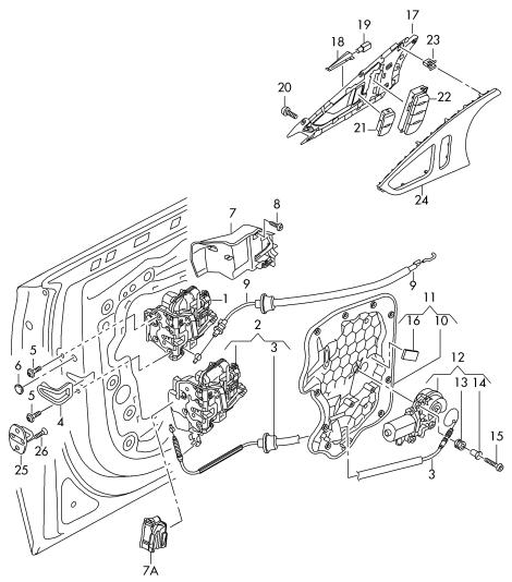 Türgriff innen vom RS6 welche Teilenummer? : Audi A6 4G