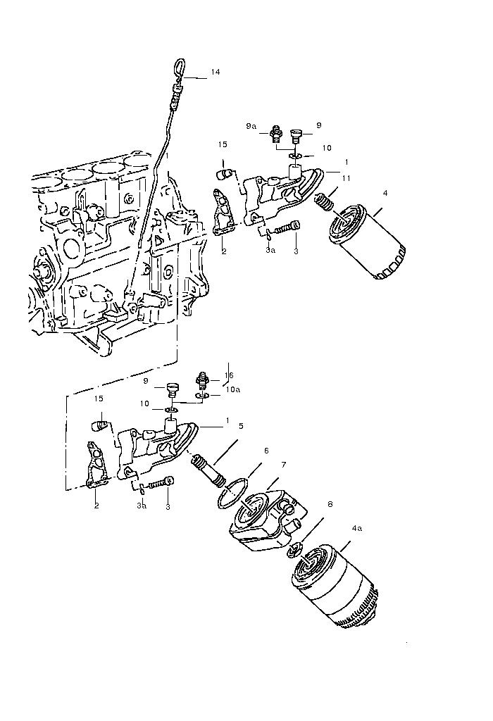 115500 : Öl Leck oberhalb Ölfilter 100 C4 ABK : Audi 80