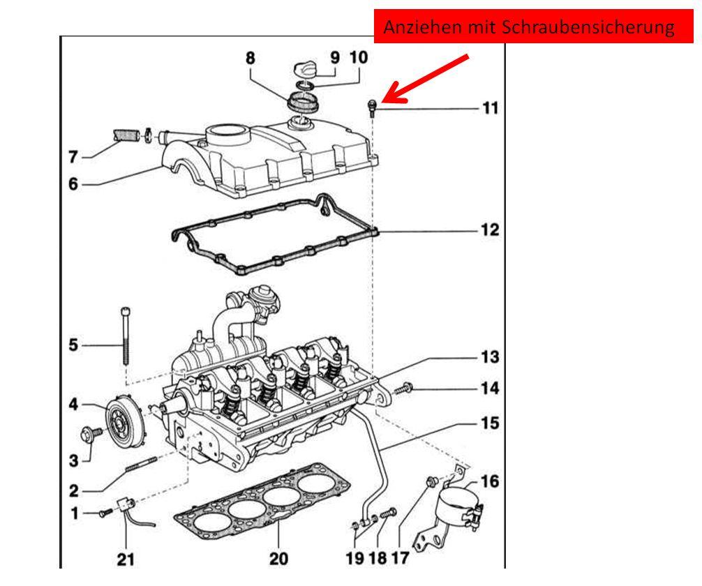 Bild-1 : Ventildeckeldichtung ist undicht, 1.9 TDI BRB