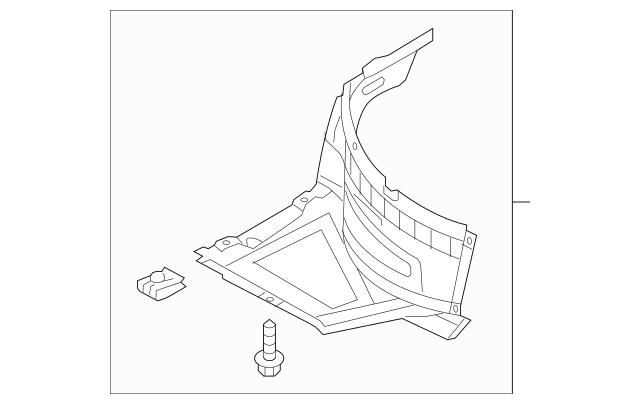 4G0 853 887 Radspoiler Links / Audi A6 4G 3.0 TDI Quattro