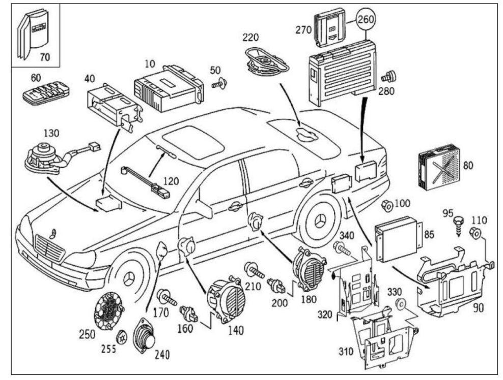 Img_3432.jpg : W220 Bose Lautsprecher hinten : Mercedes S
