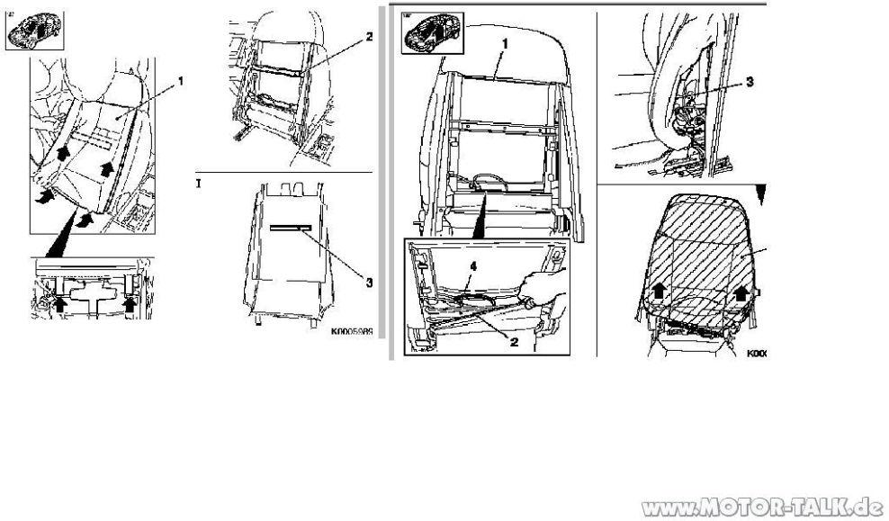 Sitz : Sitzbezug Teilledersitz entfernen, wie? : Opel