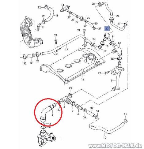 1.8 T MKB: BFB Oeldeckel saugt sich fest/KGE-Ventil & das