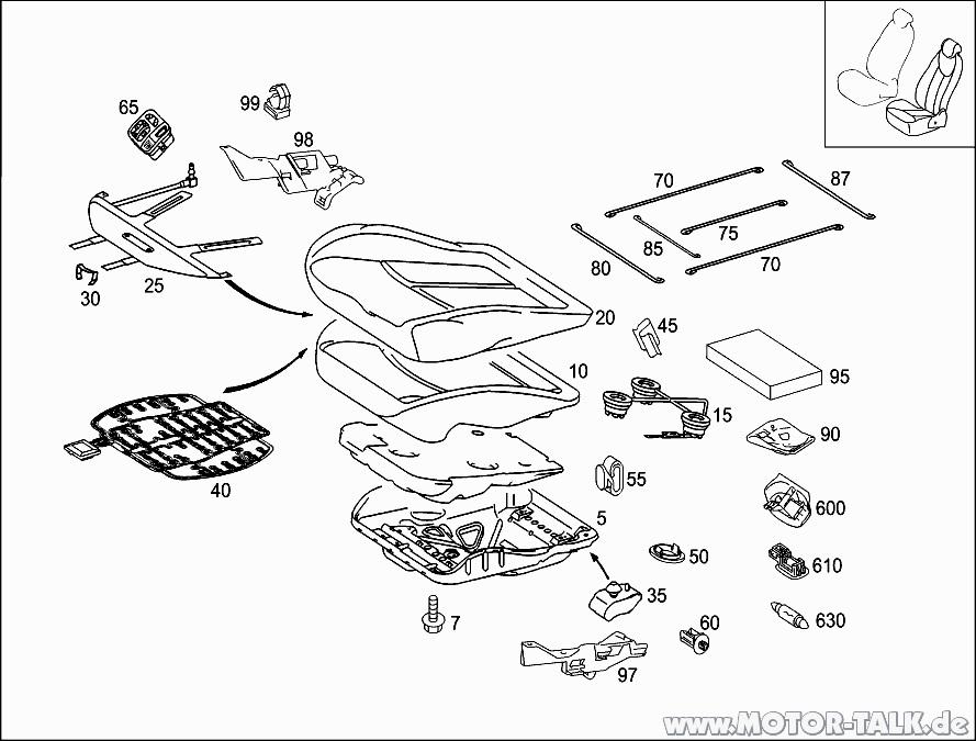 Sitzteile-komplett : Lüfterrad unter Fahrersitz gefunden