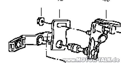 Mitnehmer-kulissenvorwahl-vr6-getriebe : Passat VR6 2.9