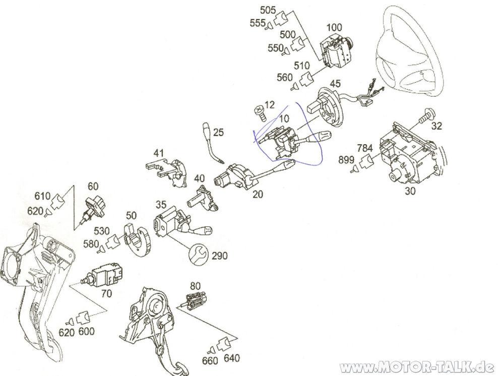 Lenkrad-explosionszeichnung : Blinkerhebel geht nicht